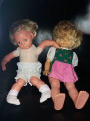 2 ältere Schildkröt- Puppen