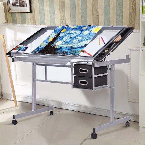 Schreibtisch Zeichentisch Architektentisch Rolltisch Glastisch ...