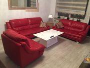 Leder Sitzgarnitur, Couch,