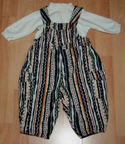 SET - Bunte Latz-Hose Shirt- Größe 62