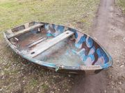 Angelboot GFK - Camouflage - Holzsitzbank Edelstahlanbauteile