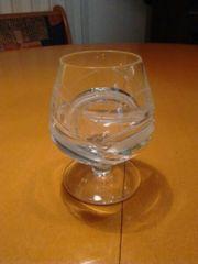 5 Bleikristall-Cognacgläser