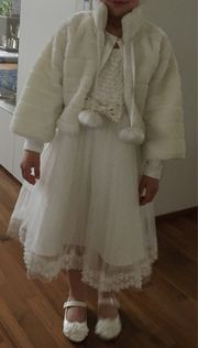 Kommunion Fest Kleid - komplett mit