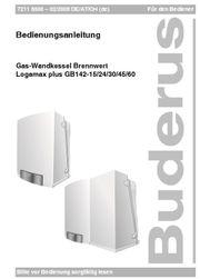 Gas Therme Brennwert BUDERUS Logamax