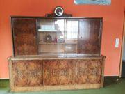 Wohnzimmerbuffet mit Vitrine und Sideboard