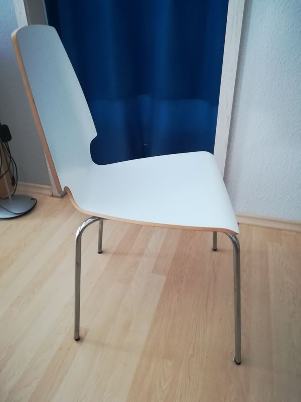 4x Stuhl Stühle Weiß Mit