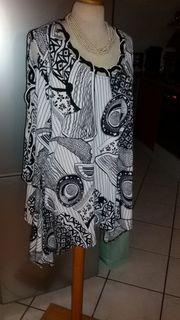 c39ba5087717 leichte festliche Bluse Halbarm schwarz-weiß Größe 36 in Bietigheim ...