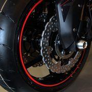 Felgenaufkleber Motorrad rot