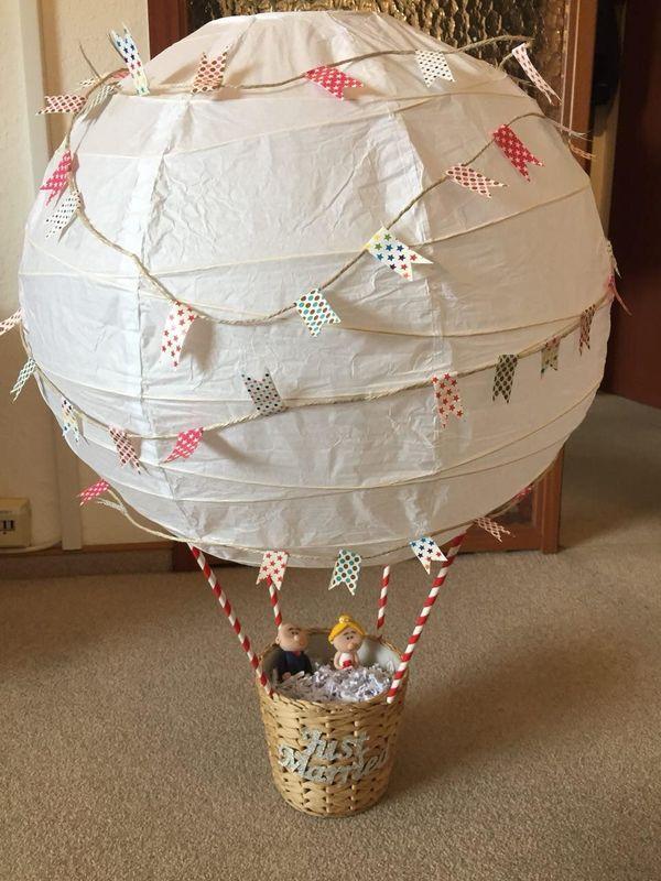 Hochzeitsgeschenk Heissluftballon Mit Figuren Selbstgemacht In