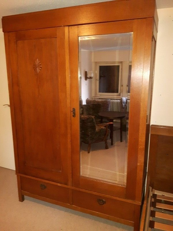 Antik Schlafzimmer Kleiderschrank 2 Betten