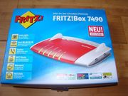 Fritzbox 7490 Komplett Neu und