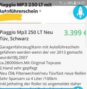 Piagio Mp3 Lt kann mit