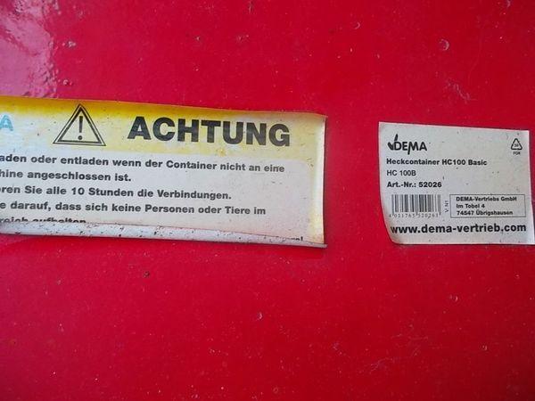 DEMA Kippmulde - Heckcontainer » Nutzfahrzeug-Teile, Zubehör