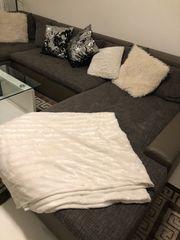 Couch Schlafsofa U-Form Big Sofa