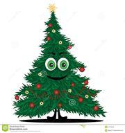 Frisch gesägte Weihnachtsbäume