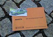 Betriebsanleitung Opel Manta