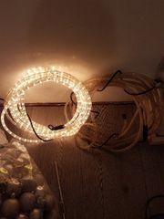 2x Lichterkette weiß