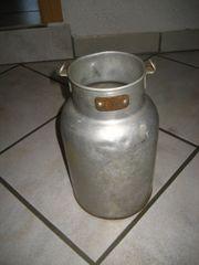 uralte Milchkanne aus Aluminium ca