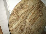Marmorplatte, Naturstein, rund,