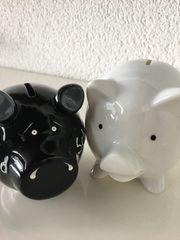 2 kleine Sparschweine