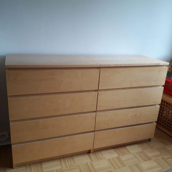 Kommode ikea malm birke  MALM-Kommode von Ikea in Hamburg - IKEA-Möbel kaufen und verkaufen ...