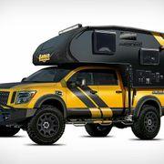 Pickup - Truck mit Absetz- Wohnkabine