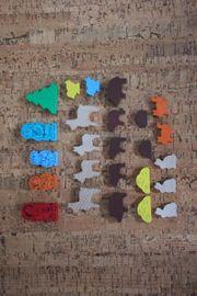 Holz-Figuren Holz-Tiere 25 Teile