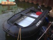 FIX-KRAFT K-420 Schlauchboot schwarz Aluboden