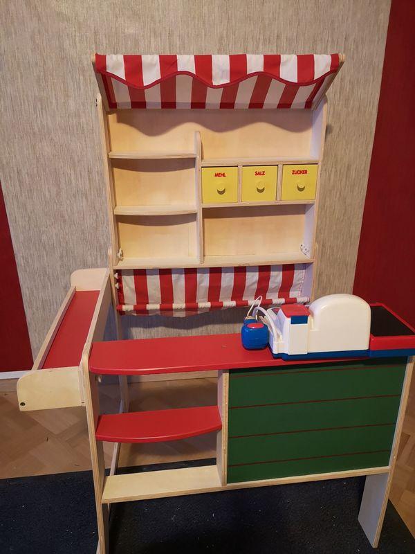 kaufmannsladen mit markise und tafel mit oder ohne zubeh r in egelsbach holzspielzeug kaufen. Black Bedroom Furniture Sets. Home Design Ideas
