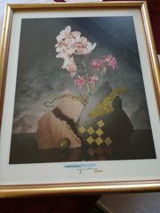 Kunstdruck hinter Glas