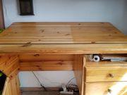 Schreibtisch Kiefer Massiv verstellbar