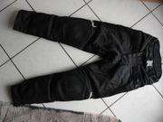 Motorradhose schwarz mit