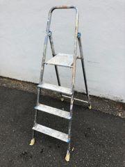 gebrauchte Alu-Leiter (
