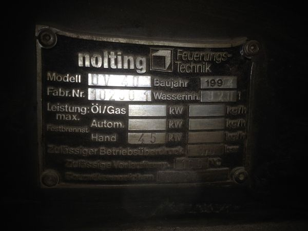 Ofen/ Heizkessel/ Heizanlage/ Heizung Holz, Kohle,Fa.Nolting 40 kW ...