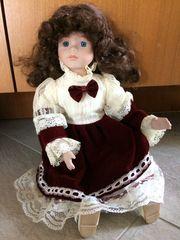 Porzellan Puppe Lilo 38 cm