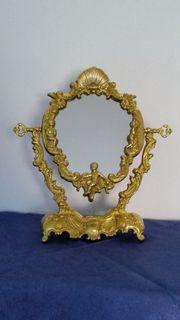Antiker Kosmetikspiegel -Vintage filigran Tischspiegel -