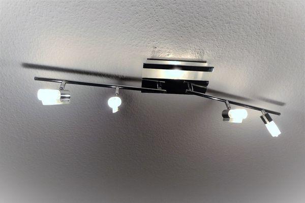 Moderne helle chrom glas halogen deckenlampe strahler leuchte in