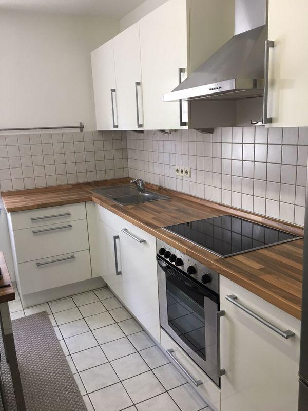 Moderne küche l form  Moderne Küche, weiß, L-Form in Karlsruhe - Küchenzeilen, Anbauküchen ...