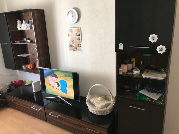 Wohnwand schwarz 1 ankauf und verkauf anzeigen billiger for Wohnwand 4 meter