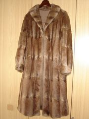 Pelz-Mantel lang Gr 46 sehr
