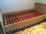Schlaf-Bett Holz Matratze verstellbarer Lattenrost
