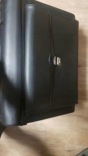 Piotenkoffer Leder schwarz