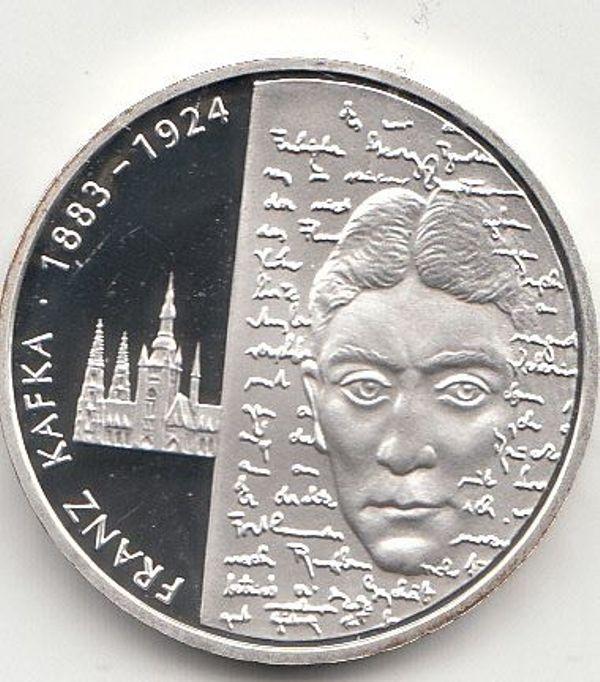 10 Euro Gedenkmünze 2008 Franz Kafka 925er Silber Spiegelglanz Pp In