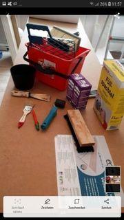 Tapeziertisch Tapetenkleister Werkzeug