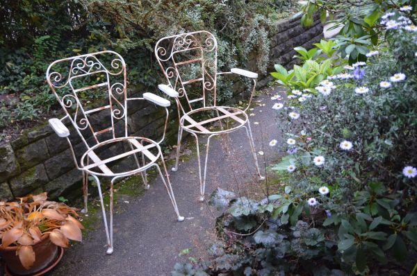 Stühle Gartenstühle Vintage Metall Mit