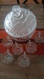Glas Bowle unbenutzt