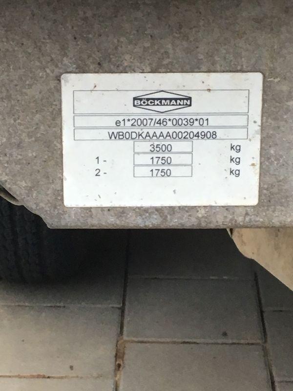 Kippanhänger 3 Seiten Kipper - Rödersheim-gronau Rödersheim - Hersteller Boekmann Baujahr 20113,5 Tonnen zulässiges Gesamtgewicht 2,0Tonnen Zuladung1,5 Tonnen Leergewicht TÜV bis Februar 2020Gepflegter Zustand - Rödersheim-gronau Rödersheim