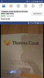 Reisegutschein thomas cook wert 300