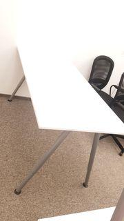 Neuwertige Bürotische Schreibtisch weiß 160x80