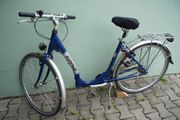 Epple Fahrrad Froschkönig blau Citybike